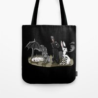 goth Tote Bags featuring Goth Bunnies by Nichts
