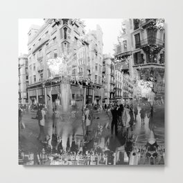 Summer space, smelting selves, simmer shimmers. 19, grayscale version Metal Print