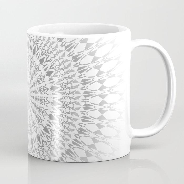 Light Grey White Mandala Coffee Mug