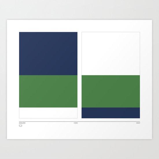 Home&Away Canucks Art Print