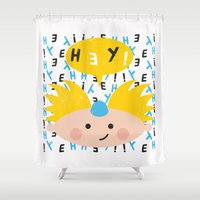 arnold Shower Curtains featuring Hey! Arnold by Carly Watts