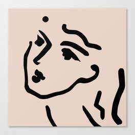 Lady Face Canvas Print