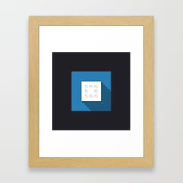 """Dice """"eight"""" with long shadow in new modern flat design Framed Art Print"""