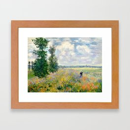 Poppy Fields near Argenteuil by Claude Monet Framed Art Print