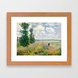 Poppy Fields near Argenteuil by Claude Monet Framed Art Print