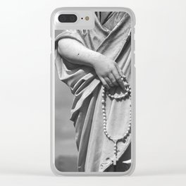 Hands That Pray Clear iPhone Case