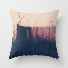 beach sunset II Throw Pillow