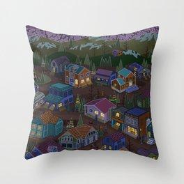 Adventure Town Throw Pillow