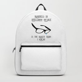 Happiness in Intelligent People Backpack