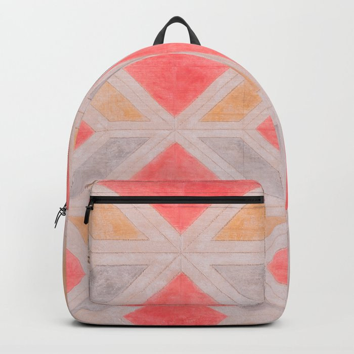 Boho Harlequin Pattern Backpack