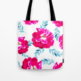 Fluorescent Florals #society6 #decor #buyart Tote Bag