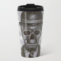 Worked To Death (Grey version) Metal Travel Mug
