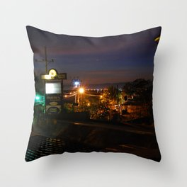 Cebu Night View Throw Pillow