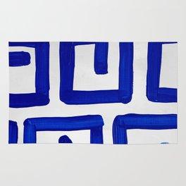 Greek Blue Design Rug