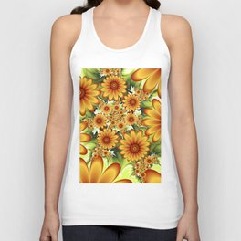 A Floral Dream Of Summer, Fractals Art Unisex Tank Top