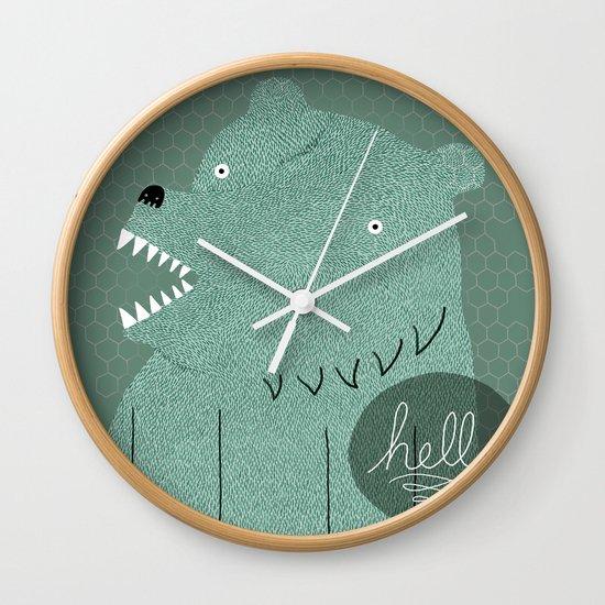 Friendly Bear Wall Clock