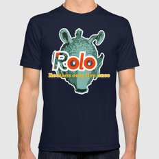 ROLO Mens Fitted Tee MEDIUM Navy