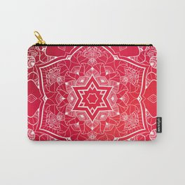 NAMASTE RED SPACE MANDALA Carry-All Pouch
