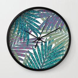 TROPICAL LEAVES GARDEN W Wall Clock