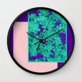 Neon Aeonium #society6 #succulent Wall Clock