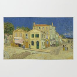 The Yellow House by Vincent van Gogh Rug