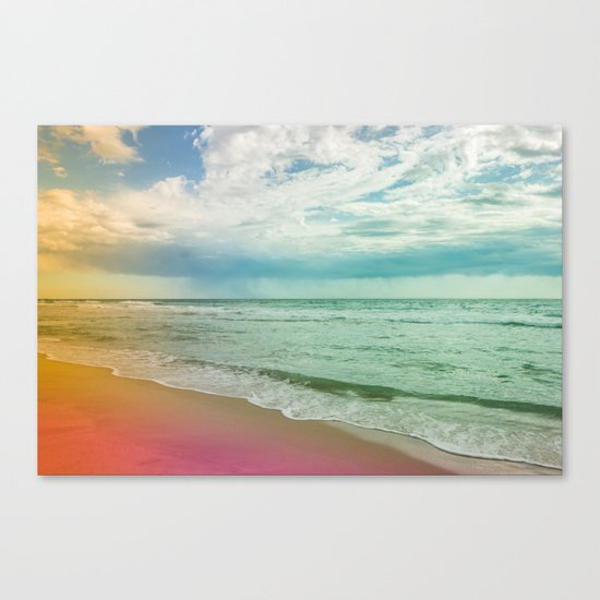 Beach in Colours Canvas Print