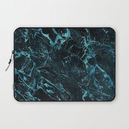 Black & Teal Color Marble Laptop Sleeve