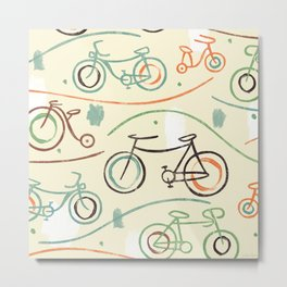 Fixies Bicyles Metal Print