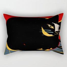 The confident cat Rectangular Pillow