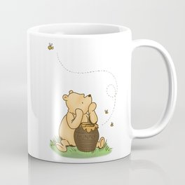 Classic Pooh with Honey - No background Coffee Mug