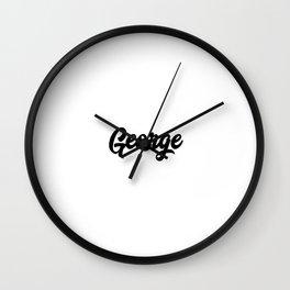 George Custom Text Birthday Name Wall Clock