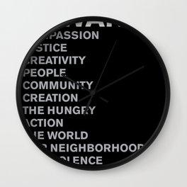 Revolt Towards (White) Wall Clock