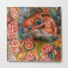 """Auguste Renoir """"Étude De Nus Et De Fleurs"""" Metal Print"""