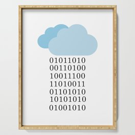 Cloud computing - Binary cloud Serving Tray