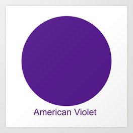American Violet Art Print