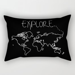 Explore World Map Rectangular Pillow