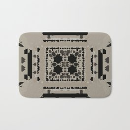Beige and Black Perspective Bath Mat