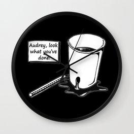 TWIN PEAKS - AUDREY'S PLAY Wall Clock