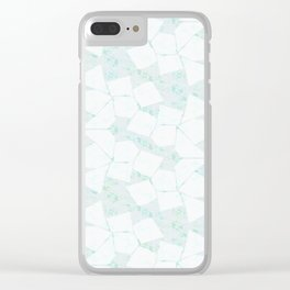 Ghost Town (Aqua Glow) Clear iPhone Case