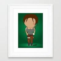 lara croft Framed Art Prints featuring Minimalist lara croft by Monkey graphisme
