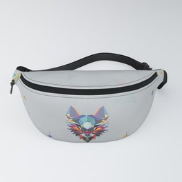 Wolf Color Geometric Fanny Pack