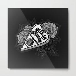 Ouija Planchette - Monochrome Metal Print