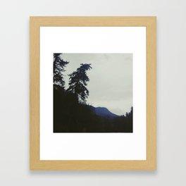Fog in Millcreek Canyon Framed Art Print