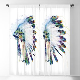 Colorful Indian Headdress Blackout Curtain