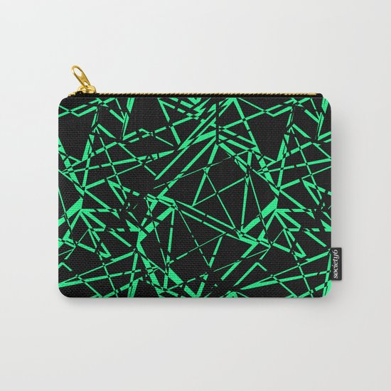 Abstract black and green pattern .Line . Carry-All Pouch