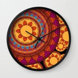 Ethnic Indian Mandala Wall Clock