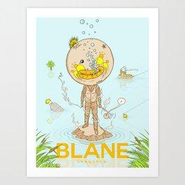 Blane Throttle Art Print