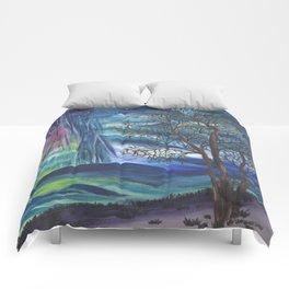 Starry Sky with Aurora Borealis Comforters
