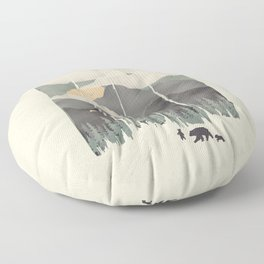Spring Mountain Weather Floor Pillow