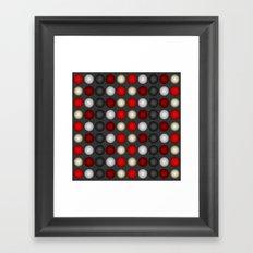 Dark Romance Polka Framed Art Print